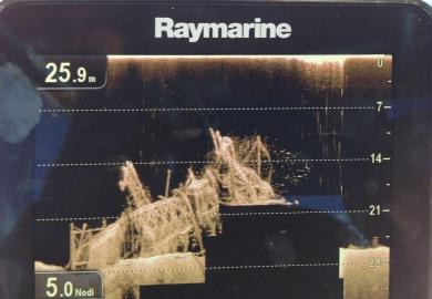 Dragonfly in azione  Adriatic Sea Paguro Ricerca a 5 nodi 25 mt di profondita'