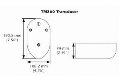TM260 Trasduttore 50/200 kHz 1kW