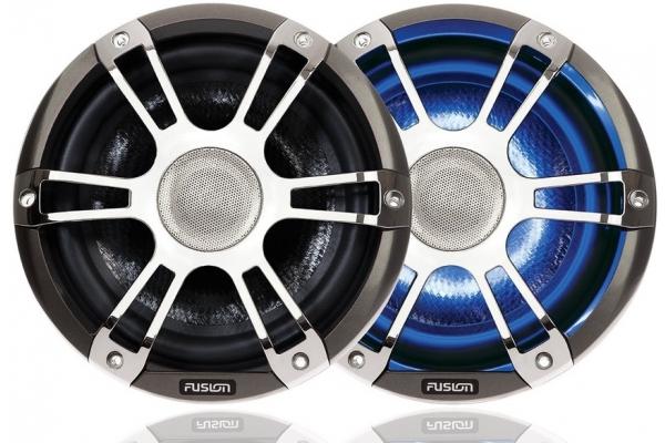 Fusion SG-CL77SPC Altoparlanti Cromati con LED
