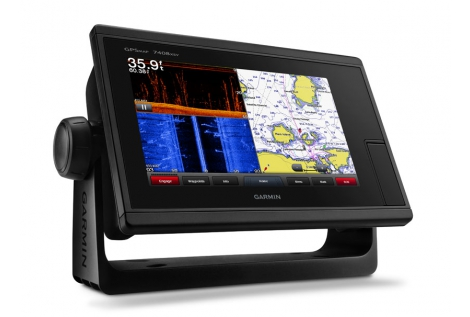 "Garmin gpsMAP 7408xsv 8"" Chirp Down e Side Vù"