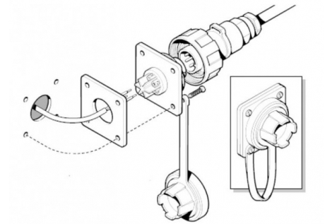 Raymarine kit presa spina per ST1000